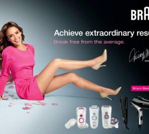 Jessica Alba fait de la publicité pour Braun