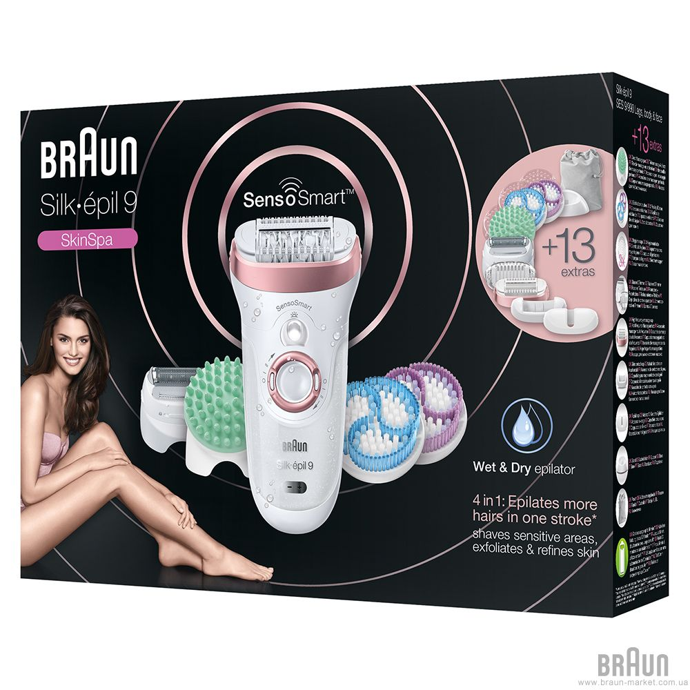 Braun Silk-Épil 9 9/990 Skinspa Sensosmart